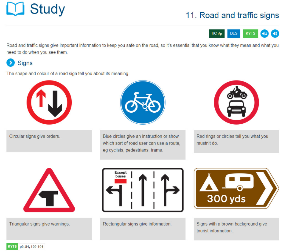 study of theory test