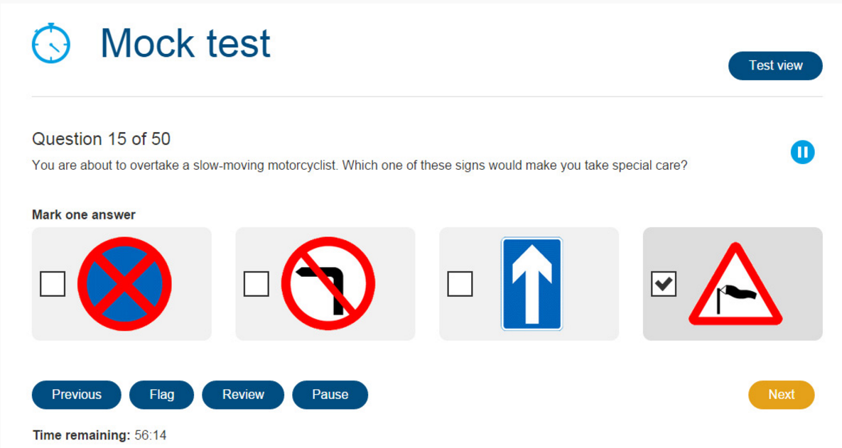 mock test of theory test